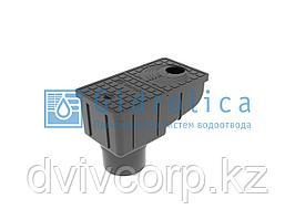 Трап уличный Gidrolica Rain ТУ-30.16,6.20 - пластиковый с крышкой глухой пластиковой
