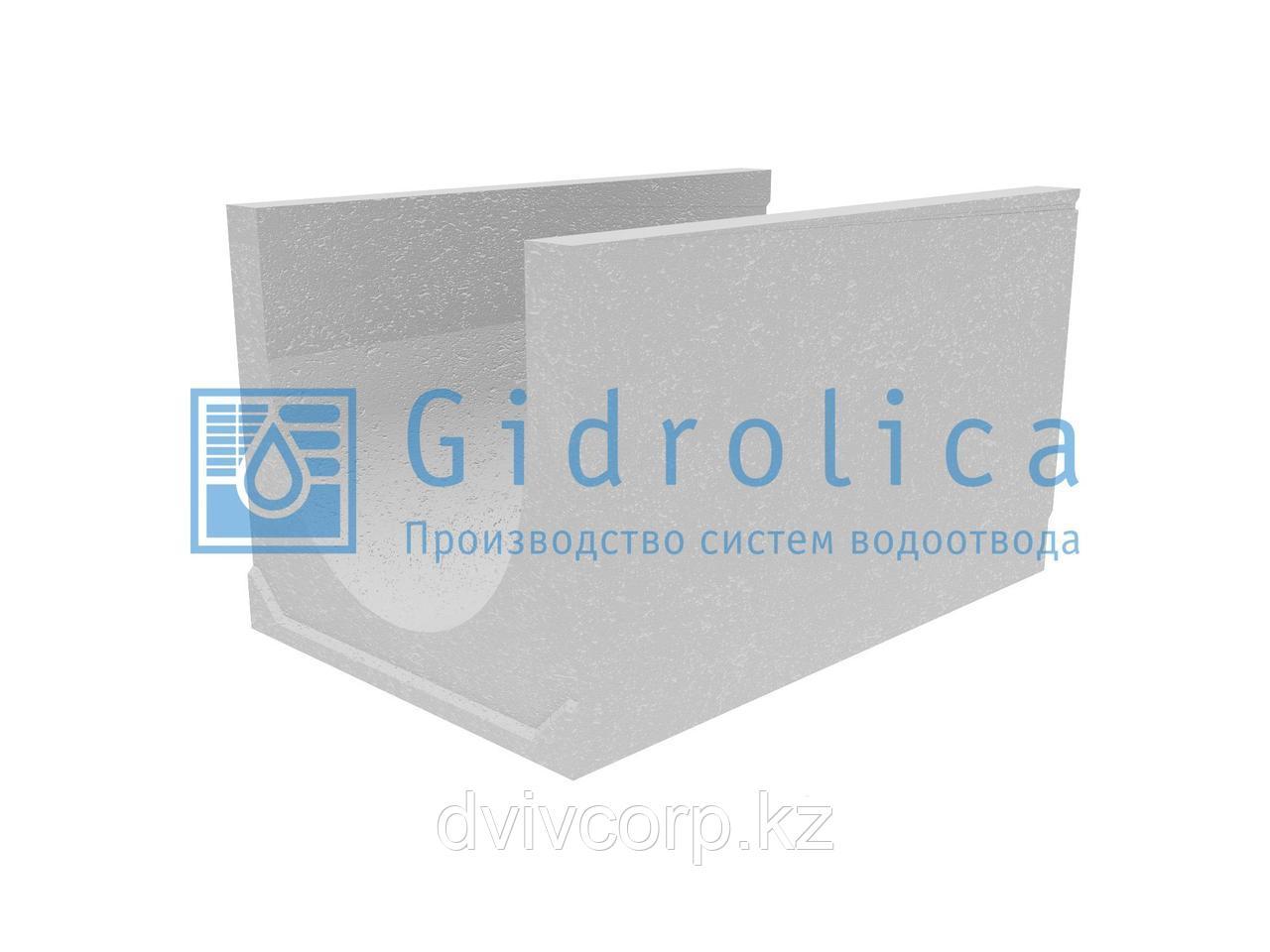 Лоток водоотводный бетонный коробчатый (СО-500мм), с уклоном 0,5%  КUу 100.65(50).58,5(49,5) - BGU-XL, № 27