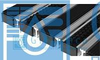 Придверная решетка Евро широкий скребок+резина+щётка