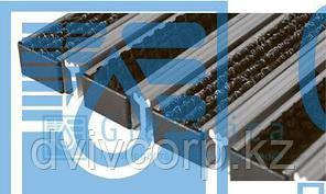 Придверная решетка Gidrolica Step - текстиль+щетка+скребок,  м.кв.