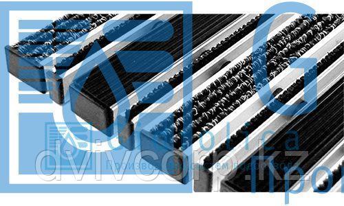 Придверная решетка Gidrolica Step - резина+текстиль+щетка,  м.кв.