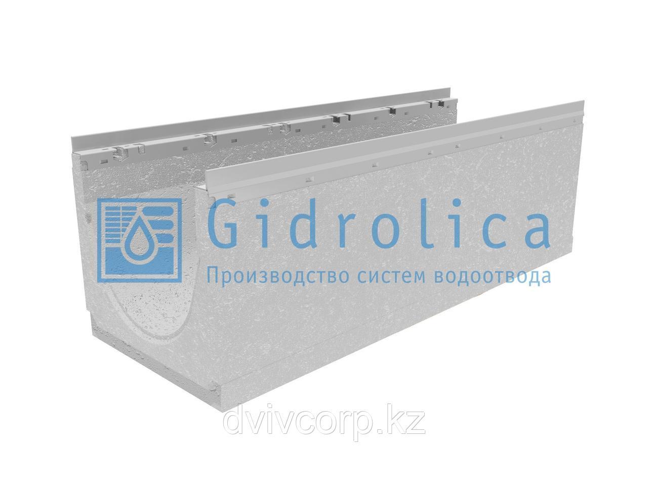 Лоток водоотводный бетонный коробчатый (СО-300мм), с оцинкованной насадкой, с уклоном 0,5% КUу