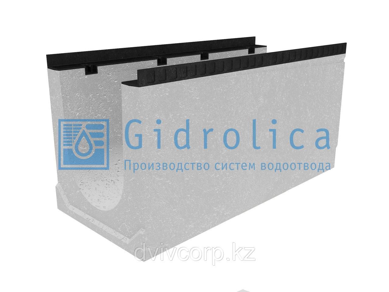 Лоток водоотводный бетонный коробчатый (СО-300мм), с уклоном 0,5%  КUу 100.44(30).50,5(43,5) - BGМ, № 11