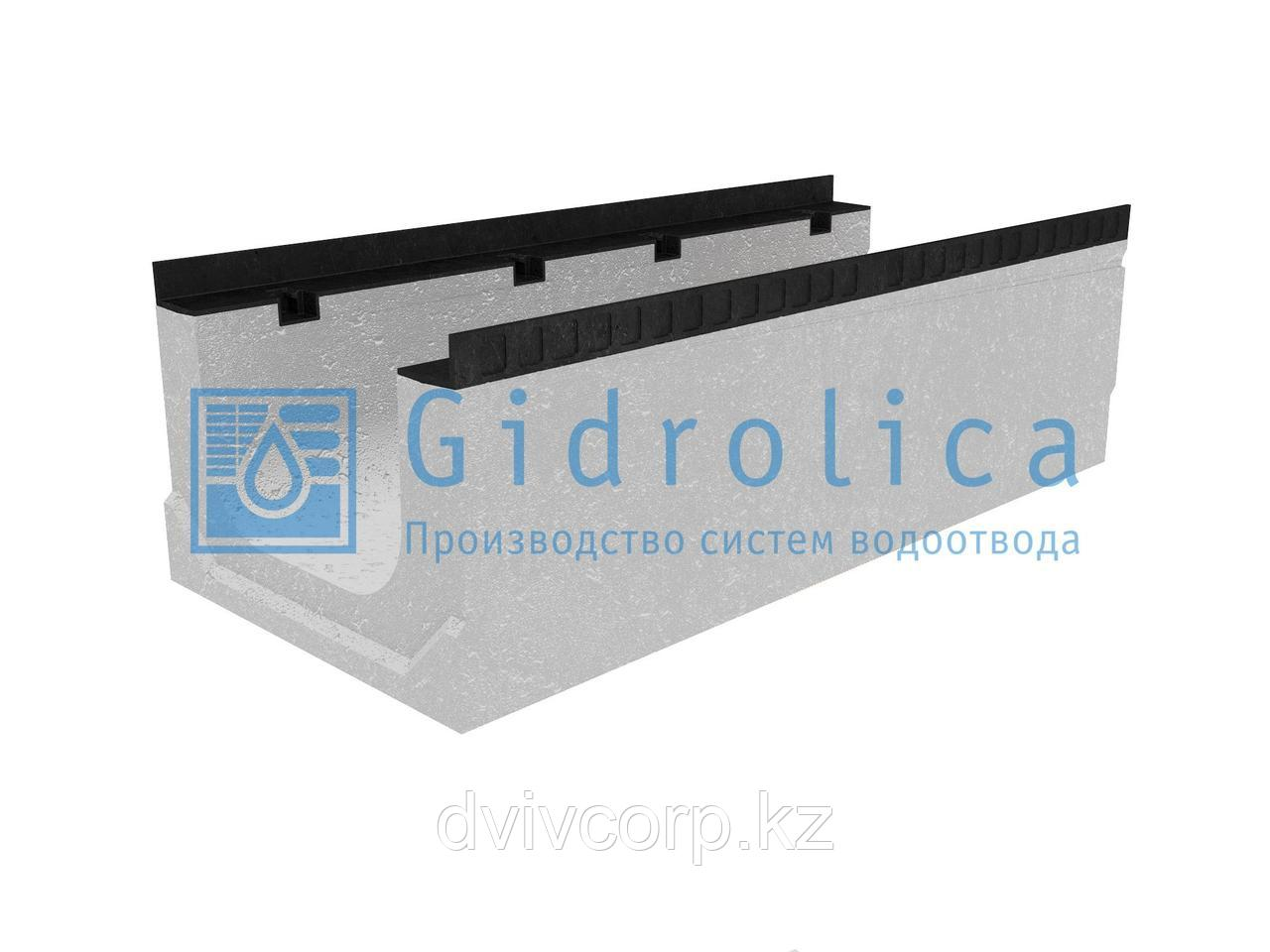 Лоток водоотводный бетонный коробчатый (СО-300мм), с уклоном 0,5%  КПу 100.44(30).32(25) - BGМ-F, № 2