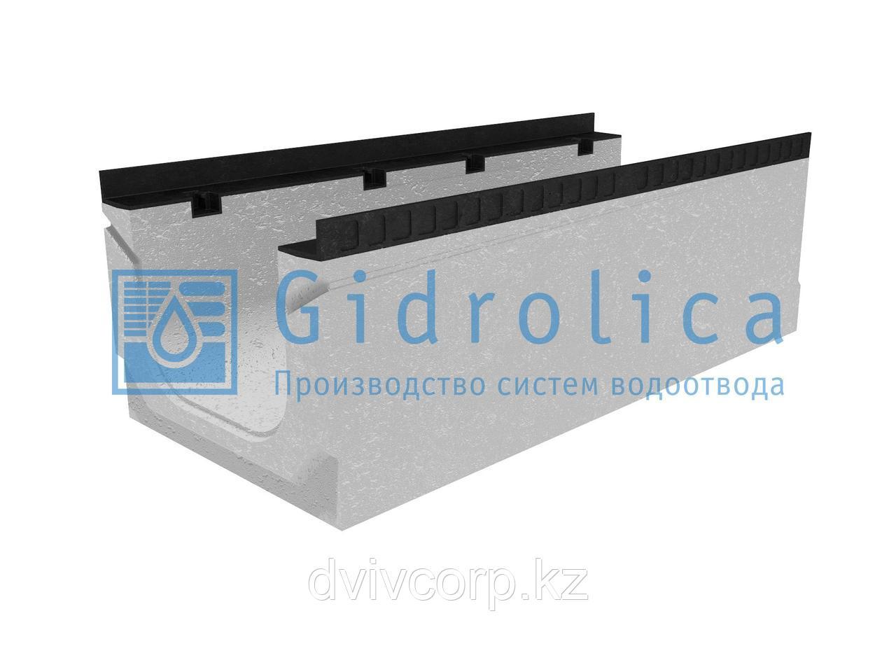 Лоток водоотводный бетонный коробчатый (СО-300мм), с уклоном 0,5%  КПу 100.44(30).35,5(28,5) - BGМ-F, № 9
