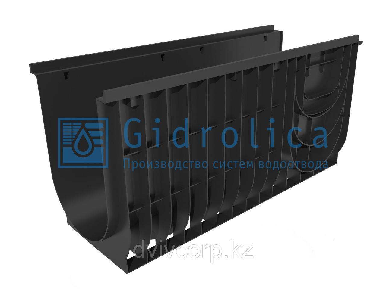 Лоток водоотводный Gidrolica Pro ЛВ-30.38.48 - пластиковый