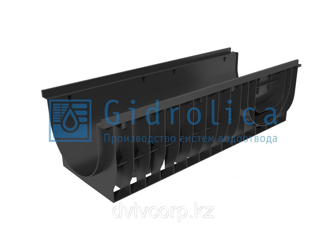 Лоток водоотводный Gidrolica Pro ЛВ-30.38.28 - пластиковый