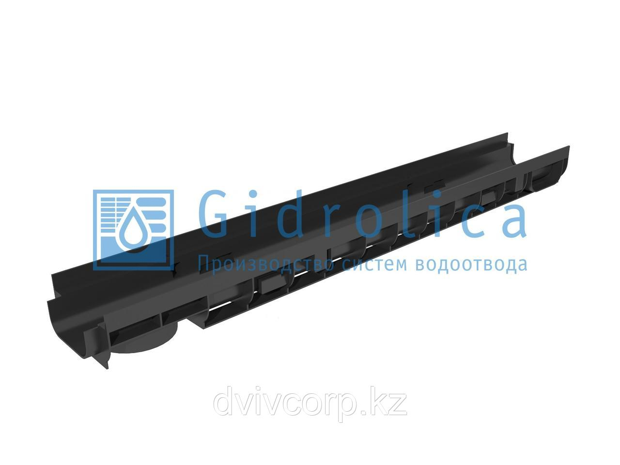 Лоток водоотводный Gidrolica Pro ЛВ-10.14,5.08 - пластиковый