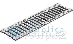 Решетка водоприемная Gidrolica Standart РВ -10.13,6.50 - щелевая чугунная ВЧ оцинкованная, кл. С250