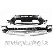 Защитные накладки на бампера на Toyota Highlander 2011-13 год