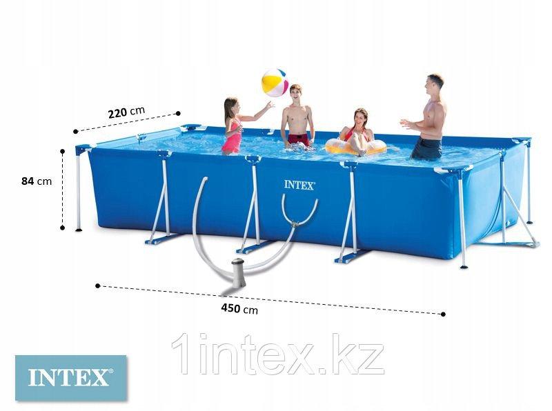 Бассейн каркасный Intex 450*220*84 см + фильтр