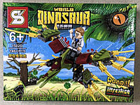 Конструктор Dinosaur 1502D Динозавр летающий с наездником Вооруженный Птеранодон