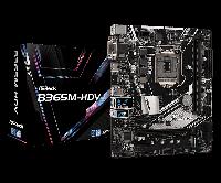 Материнская плата ASRock B365M-HDV, Socket 1151 (8-9 серии), 2xDDR4 (2666), 6xSATA3, 1xUltra M.2 (PCIe Gen3