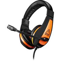 CANYON Gaming headset 3.5mm jack with adjustable microphone and volume control, with 2in1 3.5mm adapter, cable