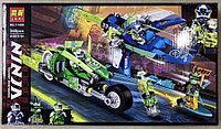 Конструктор Lari Ninja 11486 Скоростные машины Джея и Ллойда