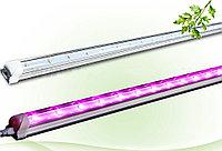 Линейная фитолампа полного спектра 120 см для подоконников на универсальных присосках