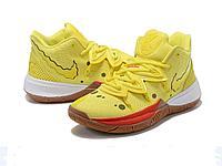 Баскетбольные кроссовки Nike Kyrie 5 Spongebob Squarepants Yellow (39-46)
