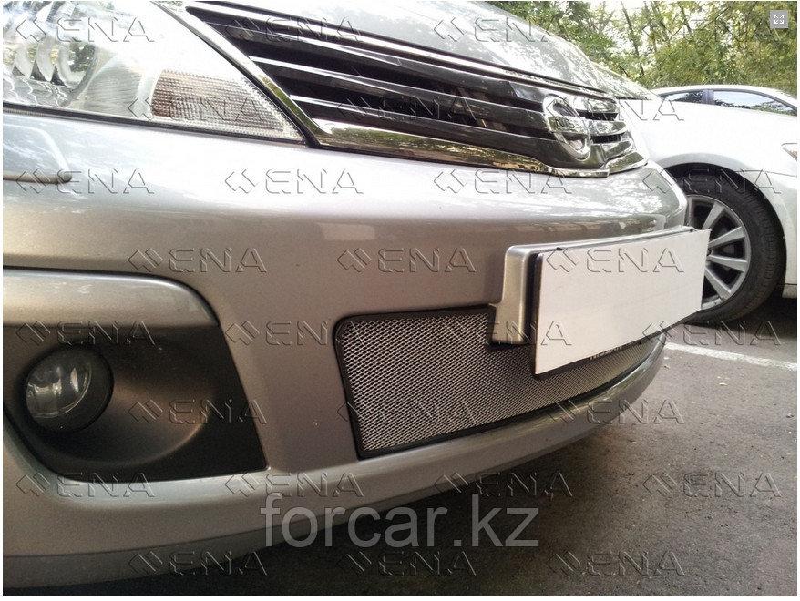 Защита радиатора Nissan Tiida (рестайлинг) Седан 2010 — 2013 chrome