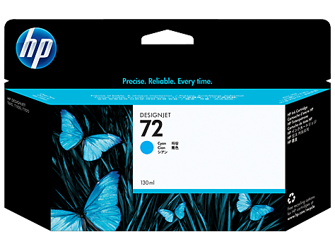 HP C9371A Картридж голубой HP 72 для Designjet T1100/Т1100ps/Т610, 130 ml