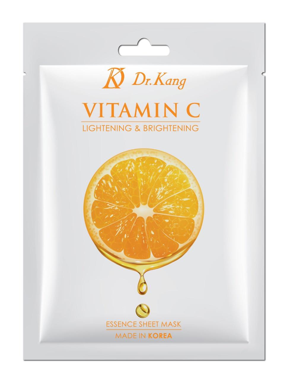 Dr.Kang Тканевая Маска с Витамином С Vitamin C Essence Sheet Mask (Lightening & Brightening)