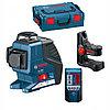 Линейный лазерный нивелир Bosch GLL 3-80 P + BM1 (новый) + LR2 в L-Boxx