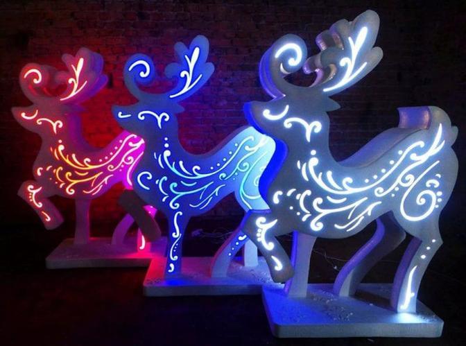 Световые инсталляции различных форм