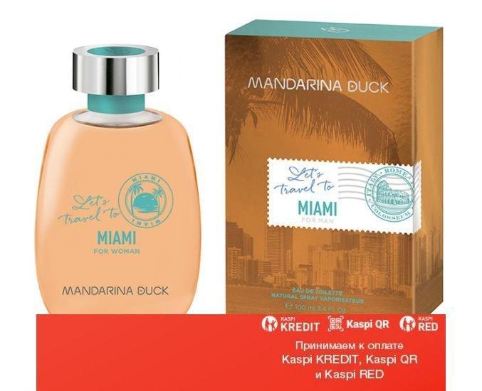 Mandarina Duck Let's Travel To Miami For Women туалетная вода объем 100 мл тестер(ОРИГИНАЛ)
