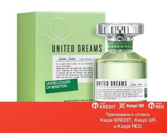 Benetton United Dreams Live Free туалетная вода объем 80 мл тестер(ОРИГИНАЛ)