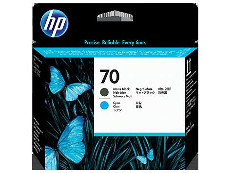 HP C9404A Печатающая головка черный матовый и голубой HP 70 для Designjet Z5200, Z2100, Z5400