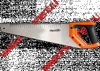 Ножовка по дереву, 400 мм, 7-8 TPI, зуб-2D, каленый зуб, линейка, двухкомпонентная рукоятка// SPARTA