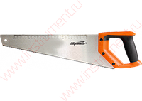 Ножовка по дереву, 500 мм, 7-8 TPI, зуб-2D, каленый зуб, линейка, двухкомпонентная рукоятка// SPARTA