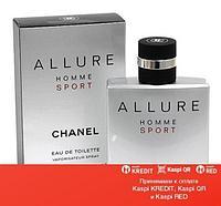 Chanel Allure Homme Sport Eau de Toilette туалетная вода объем 50 мл тестер(ОРИГИНАЛ)