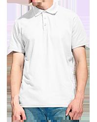 """Футболка для сублимации """"Поло"""" 48 (M) """"Unisex"""" цвет: белый"""