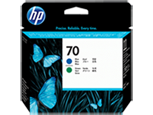 HP C9408A Печатающая головка голубая и зеленая HP 70 для Designjet Z3100, Z3200