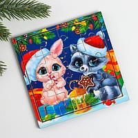 Пазл «Кролик и енот» 16 деталей