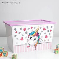 Контейнер для хранения игрушек «Деко. Единорог», 50 л, 53×37×30 см