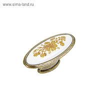 Ручка кнопка TUNDRA РК023AB, цвет бронза