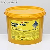 Корм для рыб Tropical Basic Flakes в виде хлопьев, 2 кг