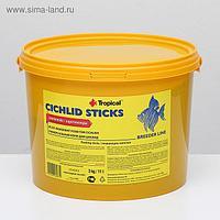 Корм для цихлид Cichlid Sticks в виде плавающих палочек, 3 кг