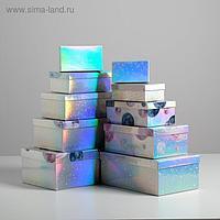 Набор иридисцентных коробок 10 в 1 «Космос», 12 × 7 × 4 - 32.5 × 20 × 12.5 см