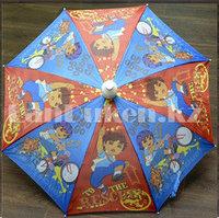 Зонт детский Диего трость со складным пластиковым чехлом голубой
