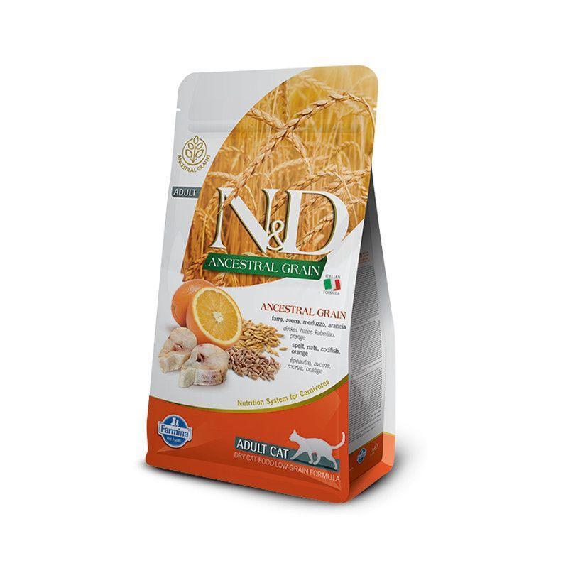 N&D рыба, апельсин, спельта, овес
