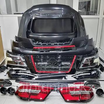 Комплект рестайлинга на Nissan Patrol Y62 2010-2019 под 2020 + RED and Black design