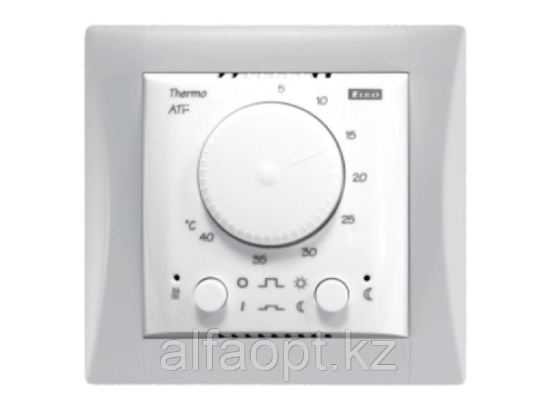 Комплект - термостат ATC, белая рамка Элегант, датчик температуры TC-3m
