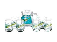 SOFIANE BLUE набор для напитков 7 предметов