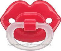 Cоска-пустышка Happy Baby силиконовая  ортодонтическая (Усики,Губы), фото 5