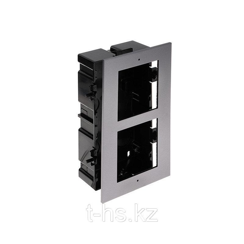 Hikvision DS-KD-ACF2/Plastic  декоративная рамка на 2 модуля
