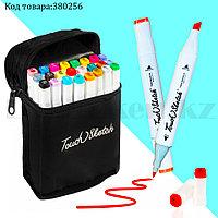 Набор маркеров художественных двухсторонних для скетчинга на спиртовой основе с чехлом Touch sketch 24 шт