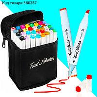 Набор маркеров художественных двухсторонних для скетчинга на спиртовой основе с чехлом Touch sketch 36 шт