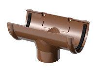 Водосток воронка сливная коричневая 3м (D-120мм) VERAT